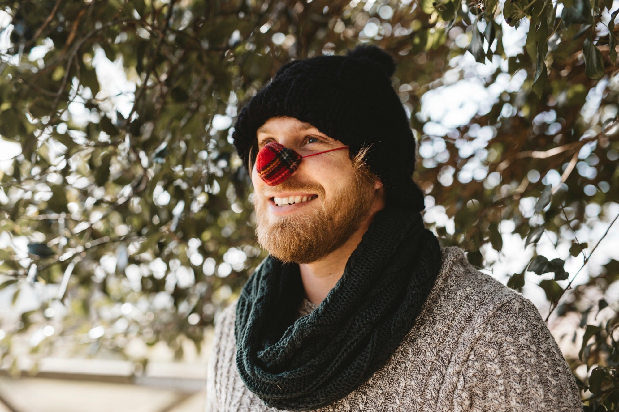 Tartan Fleece Nose Warmer