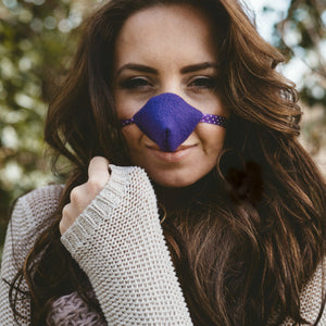 Purple Fleece Nose Warmer