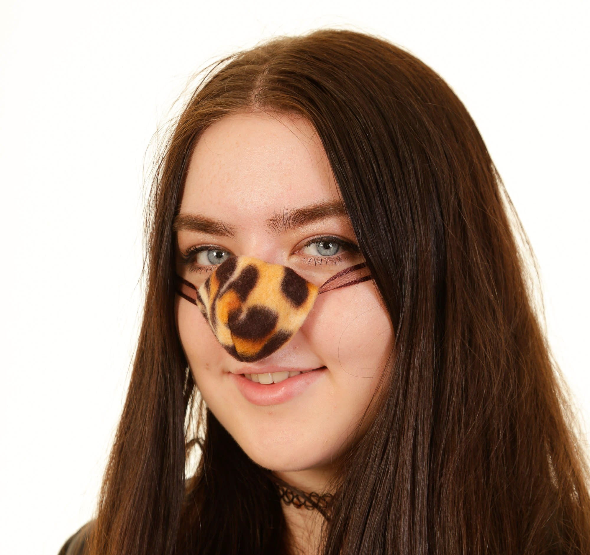 Leopard Fleece Nose Warmer