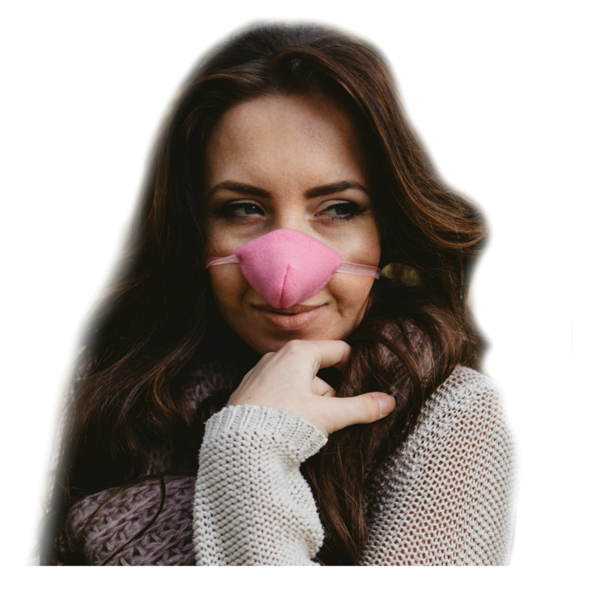Baby Pink Fleece Nose Warmer