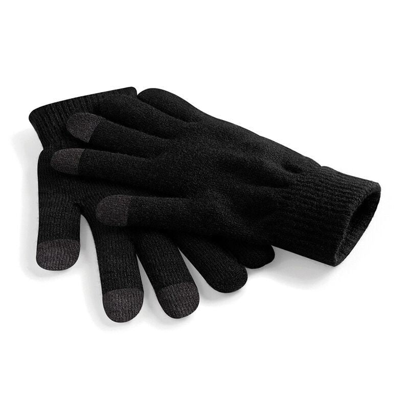 Black Touchscreen Smart Gloves