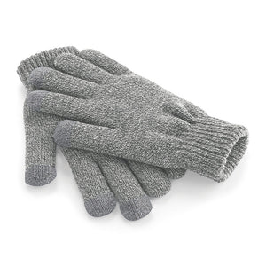 Grey Touchscreen Smart Gloves
