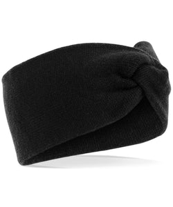 Twist Knit Headband Black