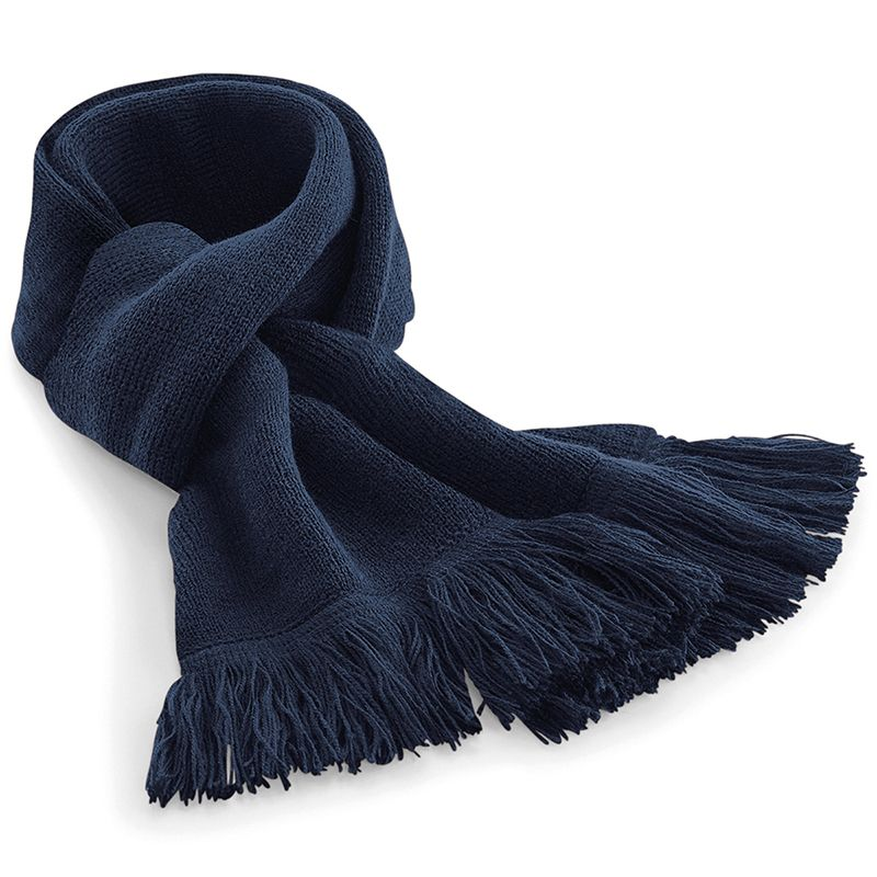 French Navy Classic Knitted Scarf