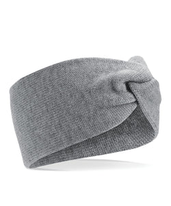 Twist Knit Headband Grey