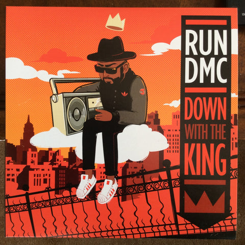 "Run-DMC ‎– Down With The King : Dinked ‎– RR-014, Profile Records ‎– none : Vinyl, 7"", 45 RPM, Single, Limited Edition, Gatefold"