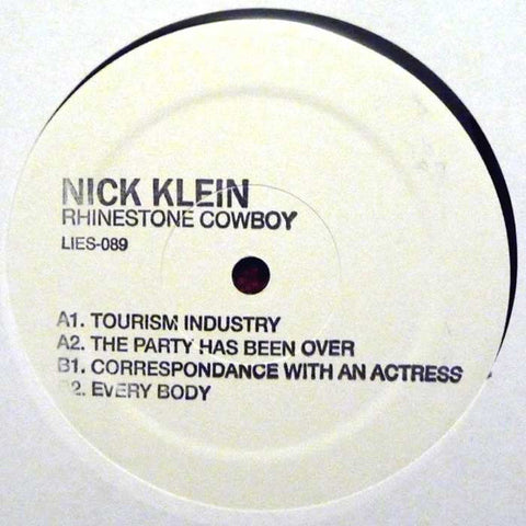 "Nick Klein ‎– Rhinestone Cowboy : L.I.E.S. (Long Island Electrical Systems) ‎– LIES 089 : Vinyl, 12"", 33 ⅓ RPM"