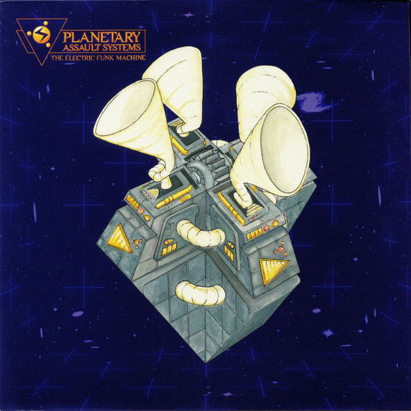 "Planetary Assault Systems ‎– The Electric Funk Machine : Peacefrog Records ‎– PF063 : 2 × Vinyl, 12"", 33 ⅓ RPM, Album, Repress"