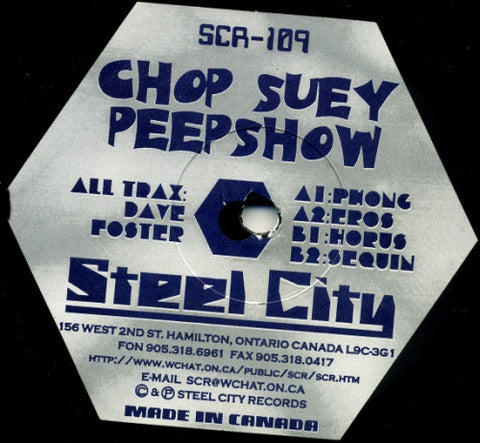 Dave Foster ‎– Chop Suey Peep Show : Steel City Records ‎– SCR-109 : Vinyl, 12""