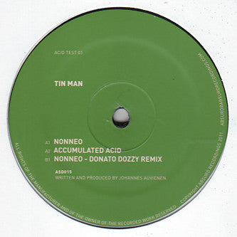 "Tin Man (3) ‎– Acid Test 01 : Absurd Recordings ‎– ASD015, Acid Test (2) ‎– Acid Test 01 : Vinyl, 12"", 45 RPM, Reissue"