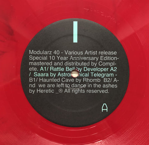 "Various ‎– Special 10 Year Anniversary Edition : Modularz ‎– Modularz 40 : Vinyl, 12"", 33 ⅓ RPM, Red"