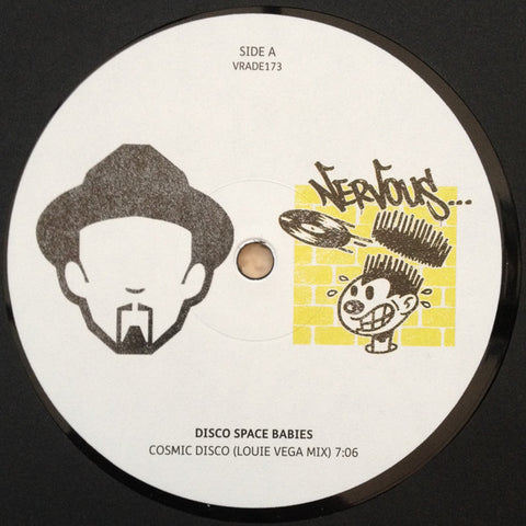 "Disco Space Babies / Sylvester ‎– Cosmic Disco (Louie Vega Mix) / Dance (Disco Heat) (Louie Vega Remix) : Vega Records ‎– VRADE173, Nervous Records ‎– VRADE173 : Vinyl, 12"", 45 RPM, Limited Edition"