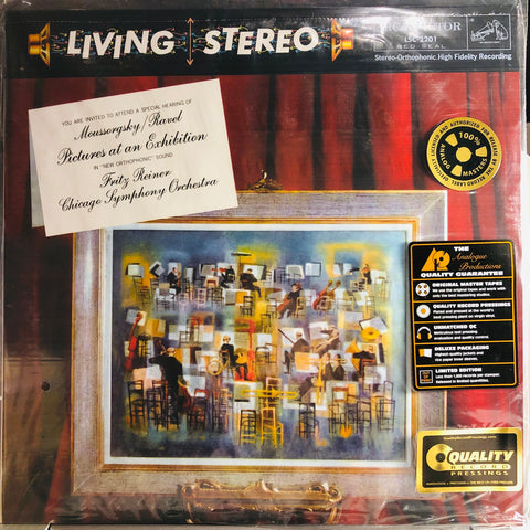 Moussorgsky*, Ravel*, Fritz Reiner, Chicago Symphony Orchestra* ‎– Pictures At An Exhibition : Analogue Productions ‎– AAPC 2201, RCA Victor Red Seal ‎– LSC-2201 Series: Living Stereo – , RCA Living Stereo Series – : Vinyl, LP, Reissue, Remastered, 200g