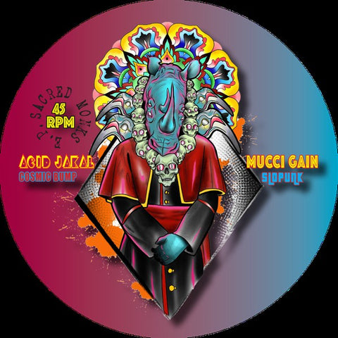 "The Sacred Collective ‎– The Sacred Monk's E.P. : Dance Sacred Records ‎– Jak 001 : Vinyl, 12"", 45 RPM, EP, Limited Edition"