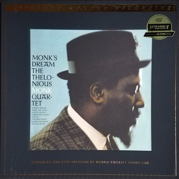 "The Thelonious Monk Quartet ‎– Monk's Dream : Mobile Fidelity Sound Lab ‎– UD1S 2-011, Series: UltraDisc One-Step – , Original Master Recording – : 2 × Vinyl, 12"", 45 RPM, Album, Limited Edition, Numbered, Reissue, 180 Gram, SuperVinyl"