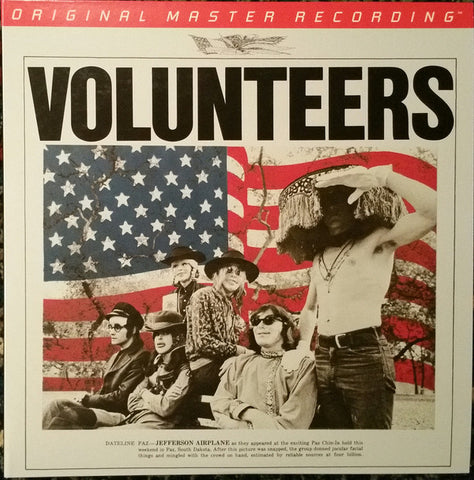 "Jefferson Airplane ‎– Volunteers : Mobile Fidelity Sound Lab ‎– MFSL 2-457, RCA Victor ‎– MFSL 2-457, Sony Music Commercial Music Group ‎– MFSL 2-457 : 2 × Vinyl, 12"", 45 RPM, Album, Limited Edition, Numbered, Remastered, Gatefold"