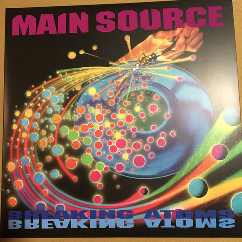 "Main Source ‎– Breaking Atoms : Vinyl Me, Please ‎– VMP-006 : Please Records Of The Month – Vol. 50 : Vinyl, LP, Album, Club Edition, Orange in Clear  Vinyl, 7"", Violet"