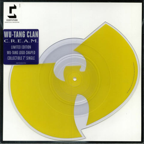"Wu-Tang Clan ‎– C.R.E.A.M. (Cash Rules Everything Around Me) : Loud Records ‎– 88875009537 : Vinyl, 7"", 45 RPM, Shape, Single, Limited Edition, Picture Disc, Repress, Die Cut Wu-Tang Logo"