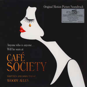 Various ‎– Café Society (Original Motion Picture Soundtrack) : At The Movies ‎– MOVATM115, Music On Vinyl ‎– MOVATM115, Sony Music ‎– none, Amazon Studios ‎– none : Vinyl, LP, Album, Limited Edition