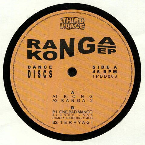 "Ranga ‎– Kong EP : Third Place Records ‎– TPDD003 : Vinyl, 12"", 33 ⅓ RPM, EP"