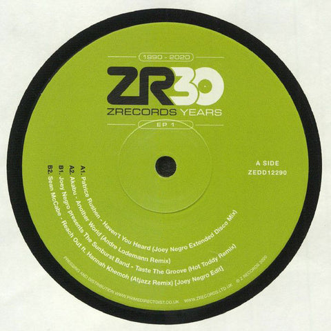 "Various ‎– 30 Years Of Z Records EP 1 : Z Records ‎– ZEDD12290 Series: 30 Years Of Z Records – 1 : Vinyl, 12"", 33 ⅓ RPM, EP"