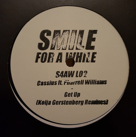 "Cassius Ft. Pharrell Williams ‎– Go Up (Kolja Gerstenberg Remixes) : Smile For A While ‎– S4AW L02 : Vinyl, 12"", 45 RPM, White Label, Stamped"