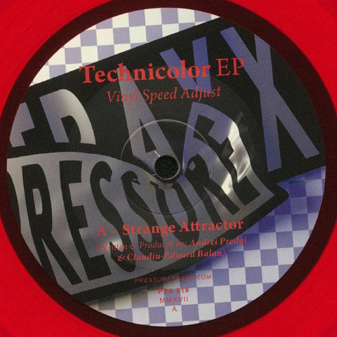 "Vinyl Speed Adjust ‎– Technicolor EP : Pressure Traxx ‎– PTX 019 : Vinyl, 10"", 33 ⅓ RPM, EP, Test Pressing"