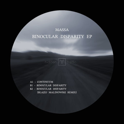 "Massa (7) ‎– Binocular Disparity EP : Hidden Traffic ‎– HT004 : Vinyl, 12"", 33 ⅓ RPM, 45 RPM, EP"