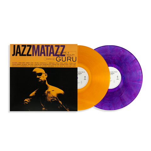 Guru ‎– Jazzmatazz Volume II (The New Reality) : Capitol Records ‎– B0027440-01 : Vinyl, LP, Orange (Translucent) Vinyl, LP, Purple (Marbled Translucent) All Media, Album, Club Edition, Limited Edition