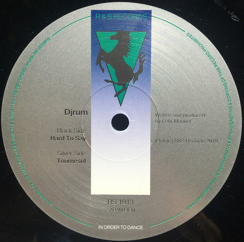 "Djrum* ‎– Hard To Say / Tournesol : R & S Records ‎– RS 1913 : Vinyl, 12"", 33 ⅓ RPM"