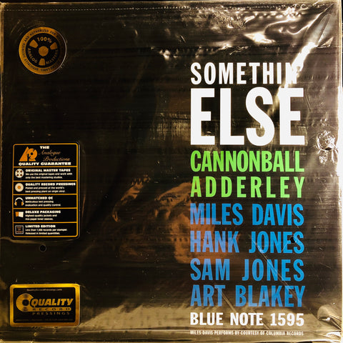 "Cannonball Adderley ‎– Somethin' Else : Analogue Productions ‎– AP-81595, Blue Note ‎– 1595 Series: The Blue Note Reissues – BST-81595 : 2 × Vinyl, 12"", 45 RPM, Album, Limited Edition, Remastered, Repress, Stereo, 200 Grams"