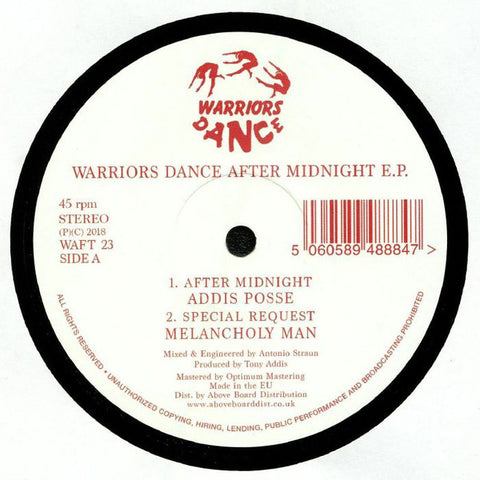 "Various ‎– Warriors Dance After Midnight E.P. : Warriors Dance ‎– WAFT 23 : Vinyl, 12"", 45 RPM, EP, Reissue"
