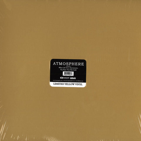 Atmosphere (2) ‎– When Life Gives You Lemons, You Paint That Shit Gold : Rhymesayers Entertainment ‎– RS0096 : 2 × Vinyl, LP, Album, Limited Edition, Yellow