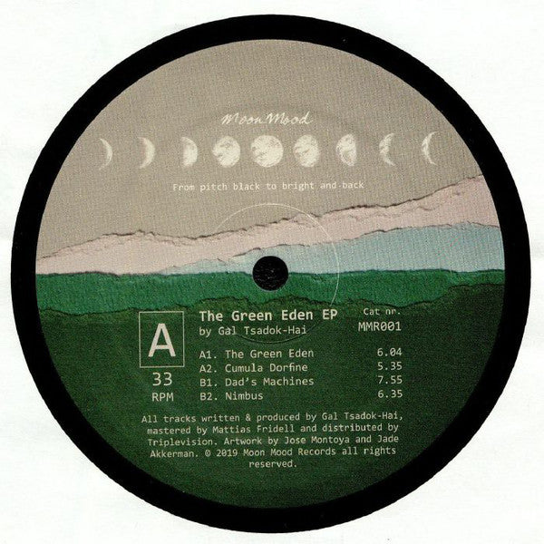 Gal Tsadok-Hai ‎– The Green Eden : Moon Mood ‎– MMR001 : Vinyl, 12""