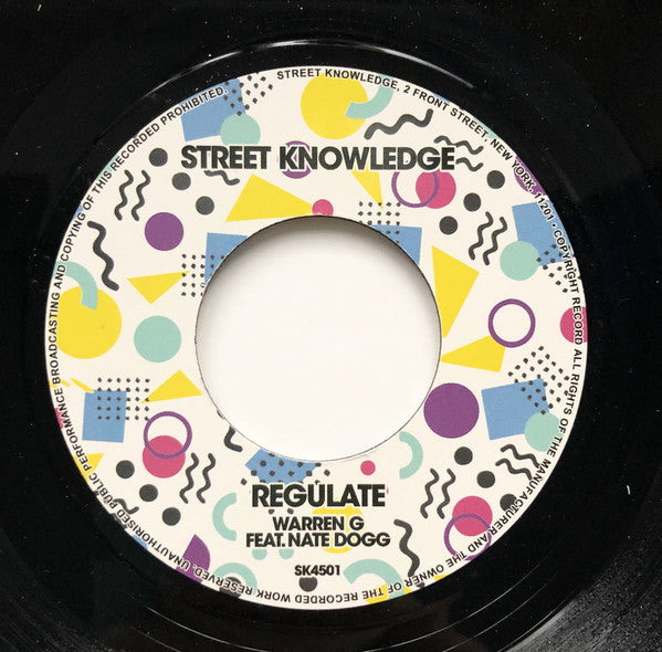 "Luniz, Warren G Feat. Nate Dogg ‎– I Got 5 On It / Regulate : Street Knowledge Music ‎– SK4501 : Vinyl, 7"", 45 RPM"