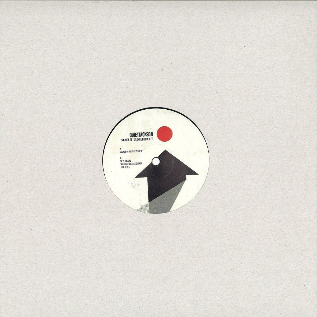 "Quietjackson ‎– Sounds Of Silence Dinner EP : XIII ‎– XIII002 : Vinyl, 12"", EP"