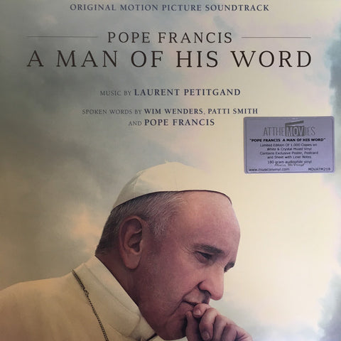 Laurent Petitgand ‎– Pope Francis: A Man Of His Word : Music On Vinyl ‎– MOVATM218 Series: At The Movies – MOVATM218 : 2 × Vinyl, LP, Album, Limited Edition, Numbered, White & Crystal