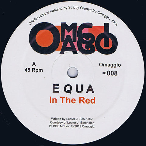 "Equa ‎– In The Red : Omaggio ‎– ∞008 : Vinyl, 12"", 45 RPM, Reissue"
