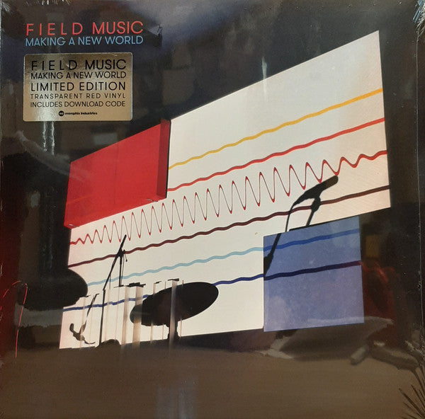 Field Music ‎– Making A New World : Memphis Industries ‎– MI0569LPX : Vinyl, LP, Album, Limited Edition, Red Transparent