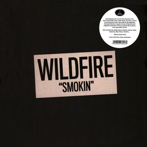 Wildfire (9) ‎– Smokin' : Out-Sider ‎– OSR076 : Vinyl, LP, Album, Reissue, Stereo