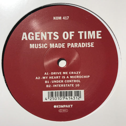 "Agents Of Time ‎– Music Made Paradise : Kompakt ‎– KOM 417 : Vinyl, 12"", 33 ⅓ RPM, EP"