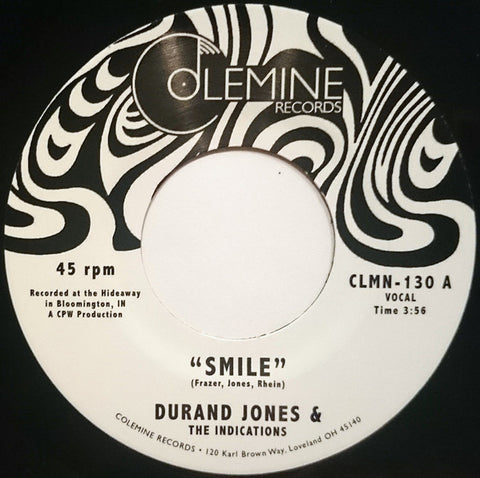 "Durand Jones & The Indications ‎– Smile : Colemine Records ‎– CLMN-130 : Vinyl, 7"", 45 RPM, Single"