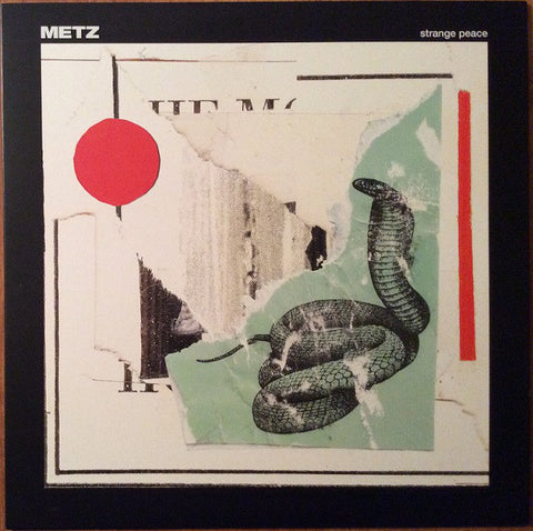 Metz ‎– Strange Peace : Sub Pop ‎– SP 1199 : Vinyl, LP, Album, Limited Edition, Numbered, Clear With Red Swirl