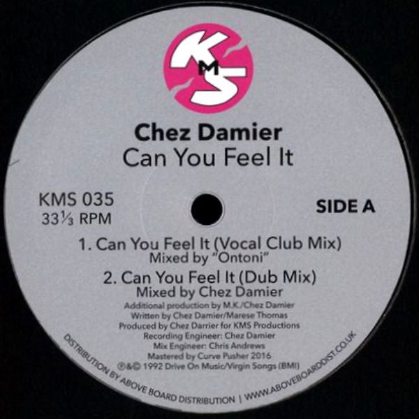 "Chez Damier ‎– Can You Feel It : KMS ‎– KMS 035 : Vinyl, 12"", 33 ⅓ RPM, Reissue, Remastered"