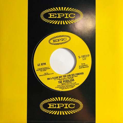 "The Peddlers ‎– On A Clear Day You Can See Forever : Epic ‎– 5-10531P : Vinyl, 7"", 45 RPM, Reissue"