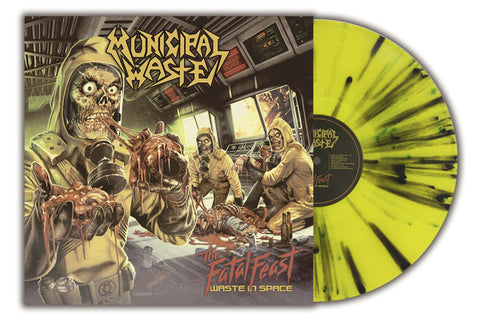 Municipal Waste ‎– The Fatal Feast (Waste In Space) : Back On Black ‎– BOBV596LPLTD : Vinyl, LP, Album, Reissue, YELLOW WITH GREEN/BLACK-LIMITED EDITION