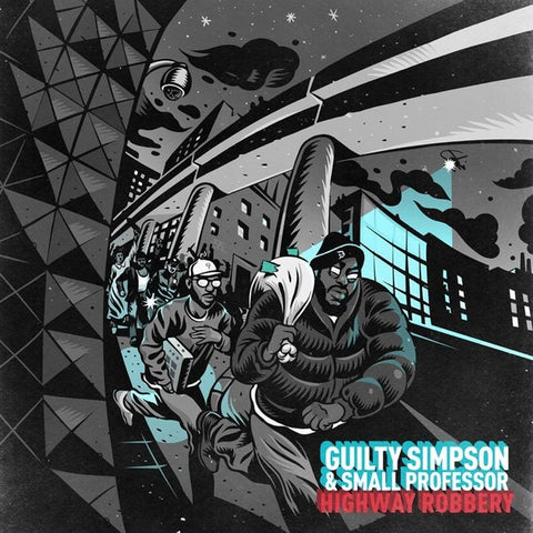 Guilty Simpson & Small Professor ‎– Highway Robbery : Coalmine Records ‎– CM052LP : 2 × Vinyl, LP, Limited Edition, Turquoise & Black Vinyl