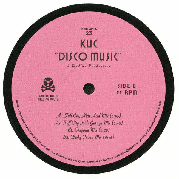 "Klic ‎– Disco Music : Home Taping Is Killing Music ‎– HOMETAPING 23 : Vinyl, 12"", 45 RPM"