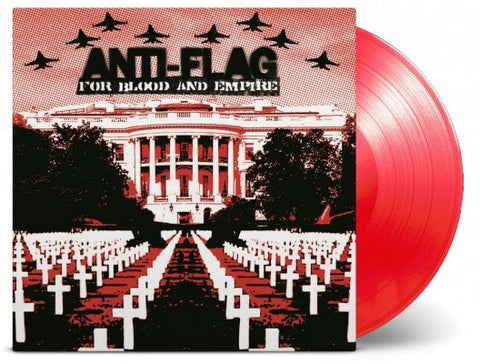 Anti-Flag ‎– For Blood And Empire : Music On Vinyl ‎– MOVLP1479 : Vinyl, LP, Limited Edition, Reissue, Red Transparent