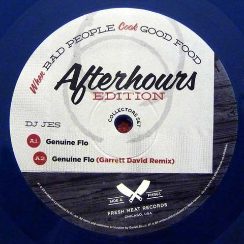 "Various ‎– When Bad People Cook Good Food : Fresh Meat ‎– FMR 63 : Vinyl, 12"", EP, Limited Edition, Blue Transparent"